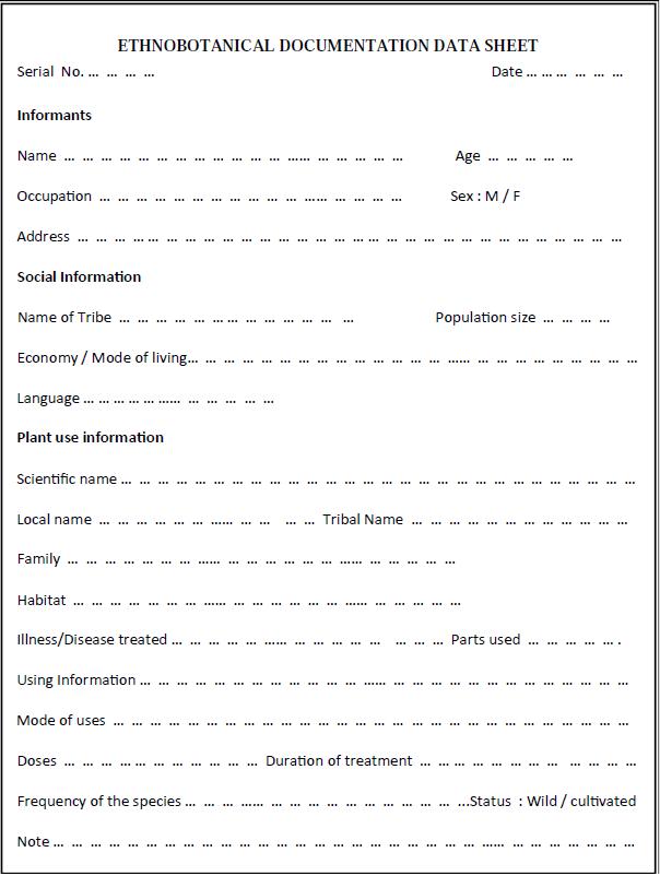 Phd thesis ethnobotany